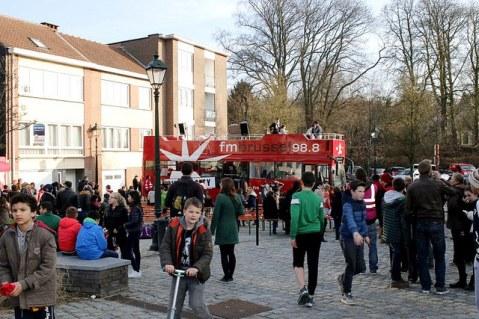 De FM Brussel-bus; een vaste waarde op events in Brussel en de Rand. (Foto: FM Brussel)